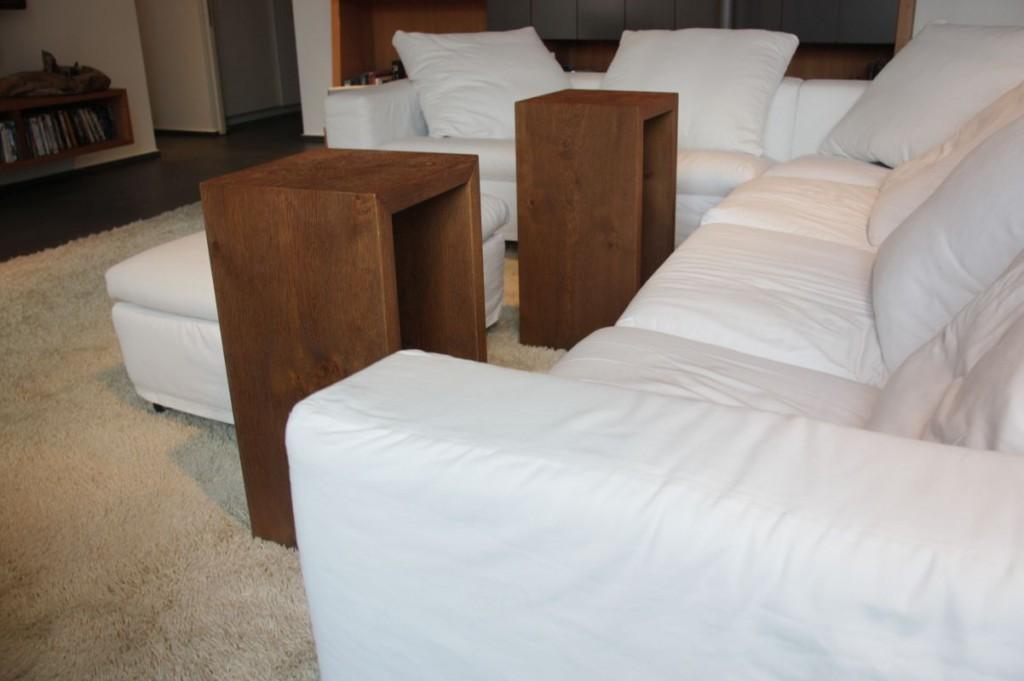 beistelltisch couchtisch hocker eiche astig furniert. Black Bedroom Furniture Sets. Home Design Ideas